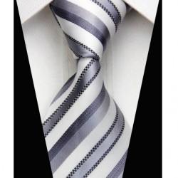Hedvábná kravata šedá NT068