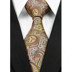 Hedvábná kravata hnědá NT0283