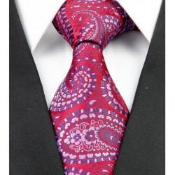 Hedvábná kravata červená NT0222