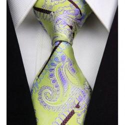 Hedvábná kravata zelená NT0335