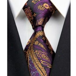 Hedvábná kravata černá kašmírová NT0359