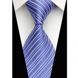 Hedvábná kravata modrá NT0588