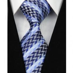 Hedvábná kravata modrá NT0012