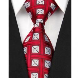 Hedvábná kravata červená NT0014