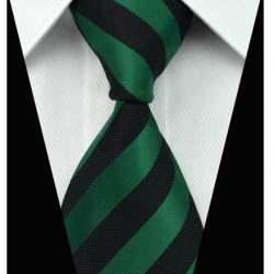 Hedvábná kravata černá NT0017