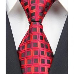 Hedvábná kravata červená NT0027