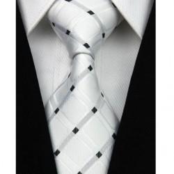 Hedvábná kravata bílá NT0029