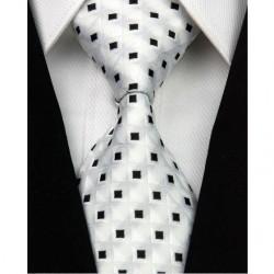 Hedvábná kravata bílá NT0032