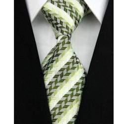Hedvábná kravata bílá NT0038