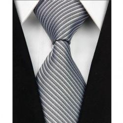 Hedvábná kravata bílá NT0042