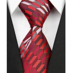 Hedvábná kravata červená NT0044