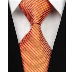 Hedvábná kravata oranžová NT0045