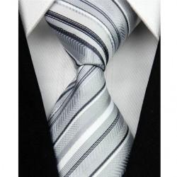 Hedvábná kravata šedá NT0051