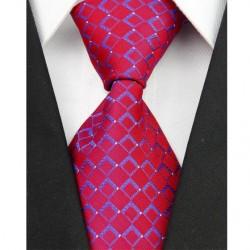 Hedvábná kravata červená NT0059