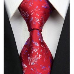 Hedvábná kravata červená NT0311