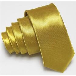 Úzká SLIM kravata zlatá