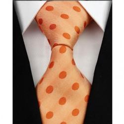Hedvábná kravata oranžová NT0204