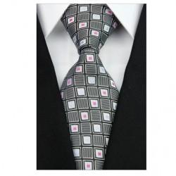 Hedvábná kravata černá NT0202