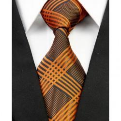 Hedvábná kravata oranžová NT0218