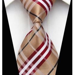 Hedvábná kravata hnědá NT0206