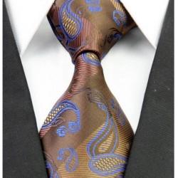 Hedvábná kravata hnědá NT0256