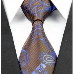 Hedvábná kravata hnědá NT0248