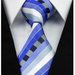 Hedvábná kravata modrá NT0247