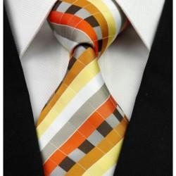 Hedvábná kravata oranžová NT0249
