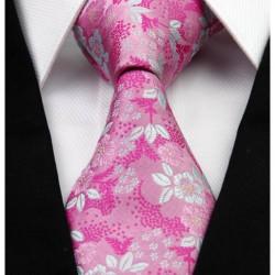 Hedvábná kravata růžová NT0237