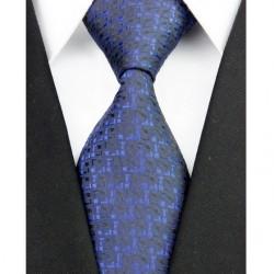 Hedvábná kravata černá NT0196