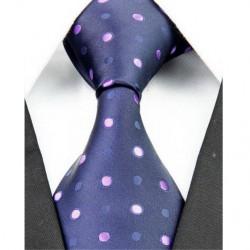 Hedvábná kravata černá NT0211