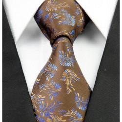 Hedvábná kravata hnědá NT0234
