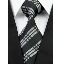 Hedvábná kravata černá NT0242