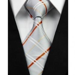 Hedvábná kravata šedá NT0236