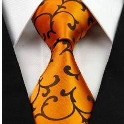 Hedvábná kravata oranžová NT0261