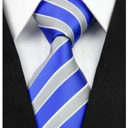 Hedvábná kravata modrá NT0251
