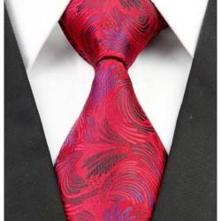 Hedvábná kravata červená NT0252
