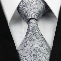 Hedvábná kravata šedá NT0264