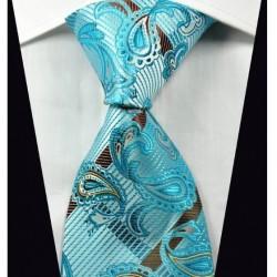 Hedvábná kravata modrá NT0363