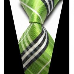 Hedvábná kravata zelená NT0426
