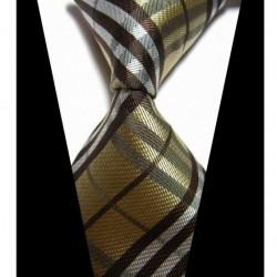 Hedvábná kravata žlutá NT0425