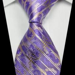 Hedvábná kravata fialová NT0342