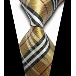 Hedvábná kravata hnědá NT0430
