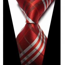 Hedvábná kravata červená NT0428