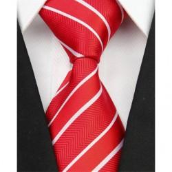 Hedvábná kravata červená NT0065