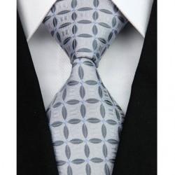 Hedvábná kravata šedá NT0120