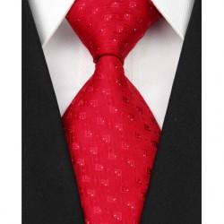 Hedvábná kravata červená NT0077