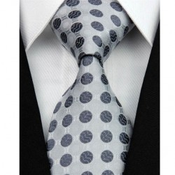 Hedvábná kravata šedá NT0113