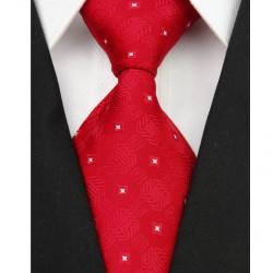 Hedvábná kravata červená NT0074