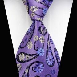 Hedvábná kravata fialová NT0339